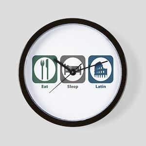 Eat Sleep Latin Wall Clock