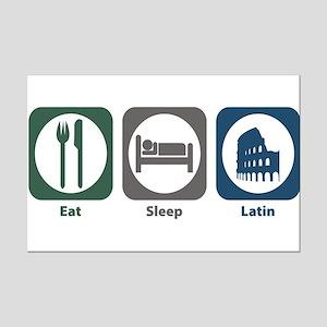 Eat Sleep Latin Mini Poster Print