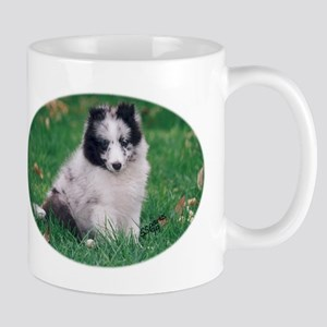 Blue merle and white Sheltie Mug