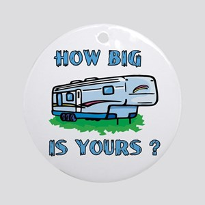 How big is yours? Ornament (Round)