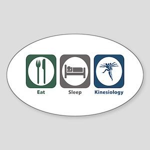 Eat Sleep Kinesiology Oval Sticker