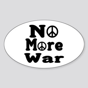 No More War Oval Sticker