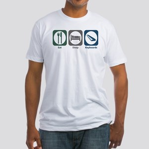 Eat Sleep Keyboards Fitted T-Shirt