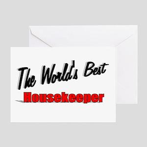 """ The World's Best Housekeeper"" Greeting Card"