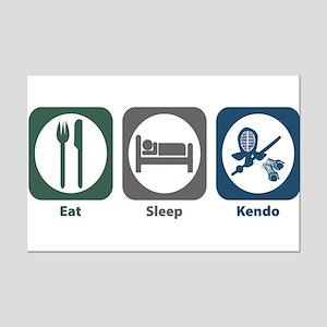 Eat Sleep Kendo Mini Poster Print