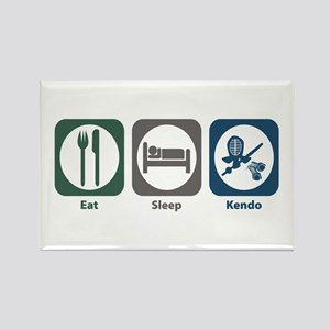 Eat Sleep Kendo Rectangle Magnet