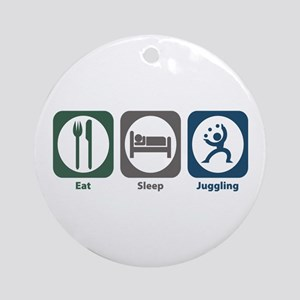 Eat Sleep Juggling Ornament (Round)