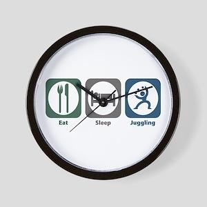 Eat Sleep Juggling Wall Clock