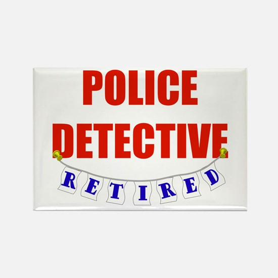 Retired Police Detective Rectangle Magnet