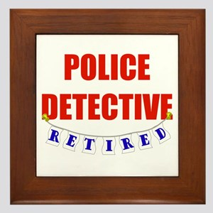 Retired Police Detective Framed Tile