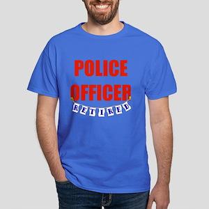 Retired Police Officer Dark T-Shirt