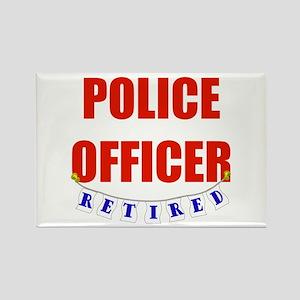 Retired Police Officer Rectangle Magnet
