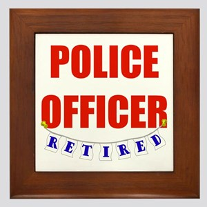 Retired Police Officer Framed Tile