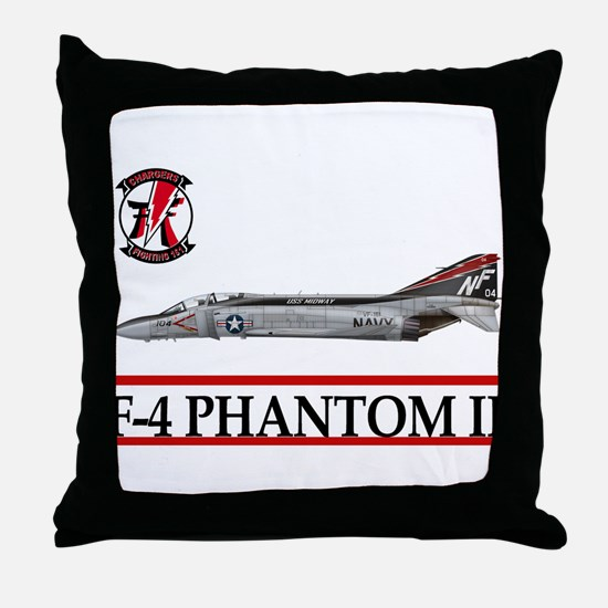 Unique F4 Throw Pillow