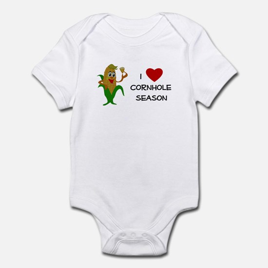 Love Cornhole Season Infant Bodysuit