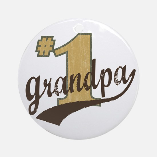 #1 Grandpa Ornament (Round)