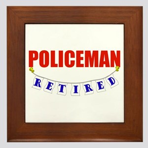 Retired Policeman Framed Tile