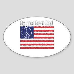 Fly Your Freak Flag Oval Sticker