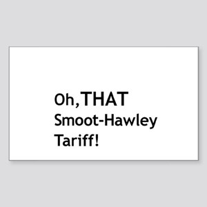 Smoot-Hawley Rectangle Sticker