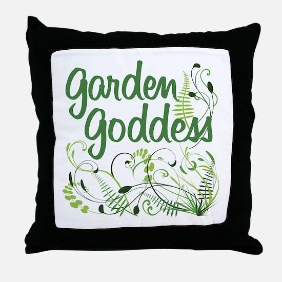 Garden Goddess Throw Pillow