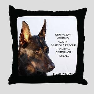 Versatile Beauceron Throw Pillow