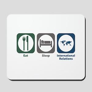 Eat Sleep International Relations Mousepad