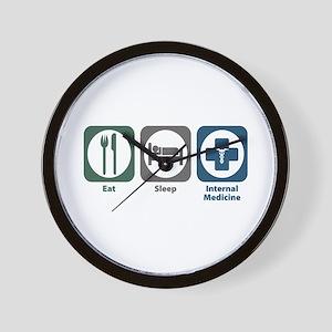 Eat Sleep Internal Medicine Wall Clock