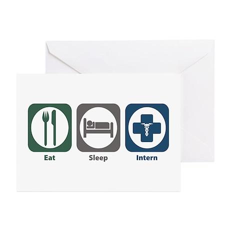 Eat Sleep Intern Greeting Cards (Pk of 20)