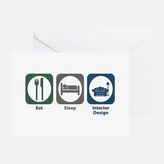 Eat Sleep Interior Design Greeting Card