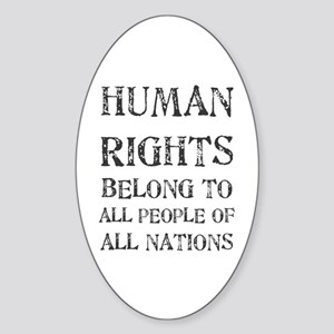 Human Rights Oval Sticker