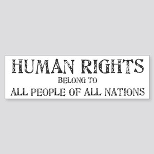 Human Rights Bumper Sticker