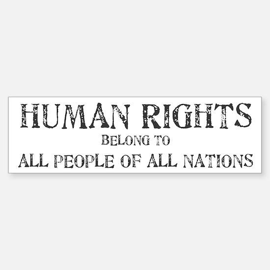 Human Rights Bumper Bumper Bumper Sticker