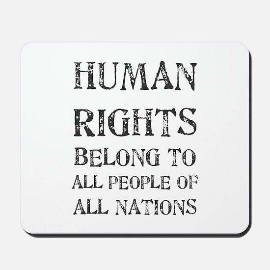 Human Rights Mousepad