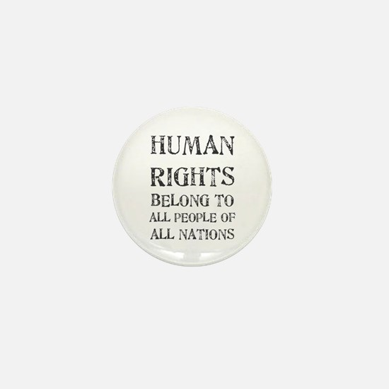 Human Rights Mini Button