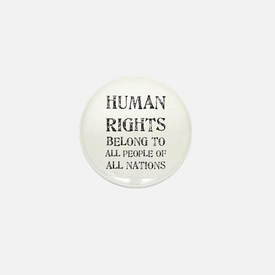 Human Rights Mini Button