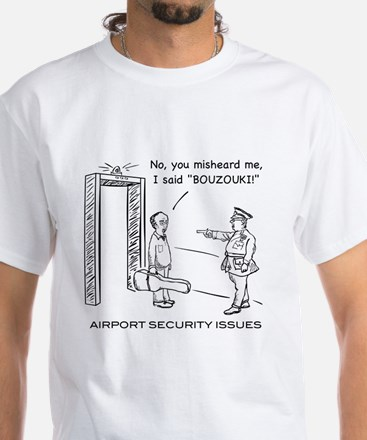 Airport Security White T-Shirt
