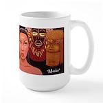 """""""Masks"""" large mug"""