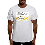 Hooked on Jesus Ash Grey T-Shirt