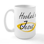 Hooked on Jesus Large Mug
