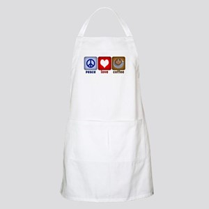 Peace Love and Coffee Tiles BBQ Apron