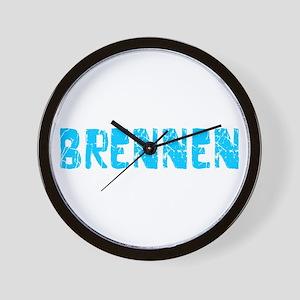 Brennen Faded (Blue) Wall Clock
