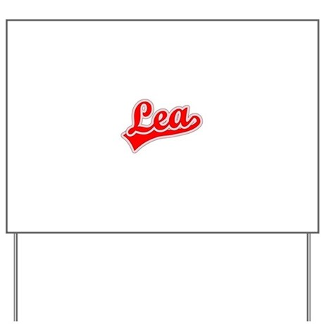 Retro Lea (Red) Yard Sign