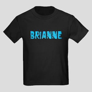 Brianne Faded (Blue) Kids Dark T-Shirt