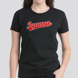 Retro Iyanna (Red) Women's Dark T-Shirt