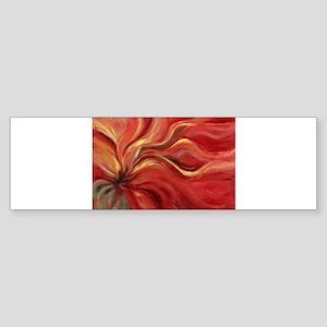 Flaming Flower Bumper Sticker