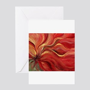 Flaming Flower Greeting Card