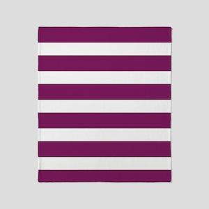 Magenta Striped Throw Blanket
