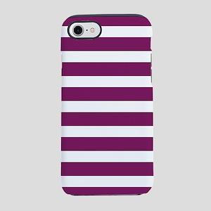 Magenta Striped iPhone 8/7 Tough Case