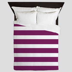 Magenta Striped Queen Duvet