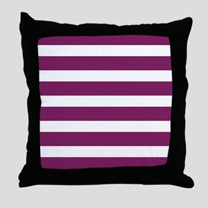 Magenta Striped Throw Pillow